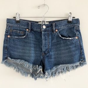 Free People We the Free Cutoff Button Fly Short 26